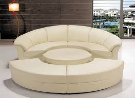 Sectional Sofa Set Circle Sectional Sofa Set With Table White Tos Lf 6722 Wh