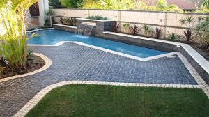 cobblestone patio ideas pool paving ideas landscape with no grass