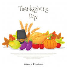background with elements of thanksgiving vector free