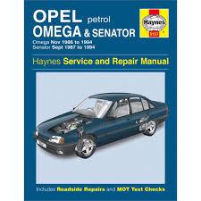haynes manual vauxhall omega and senator petrol nov 86 94