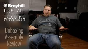 Serta Office Chair Review Broyhill Big U0026 Tall Executive Office Chair Unboxing Review