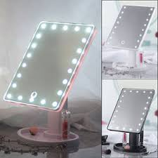 light up makeup mirror 22 led touch screen makeup mirror tabletop cosmetic vanity light up