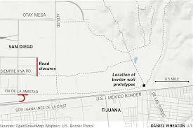 Tijuana Mexico Map Donald Trump Shares New Video Of San Diego Border Wall Prototypes