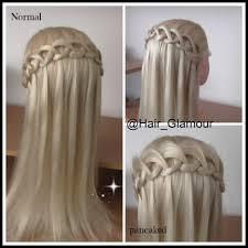 the new loop waterfall braid hair tutorial hairglamour braid