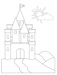 free printable castle coloring pages kids