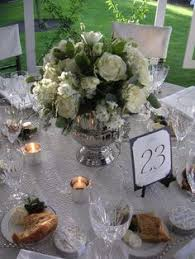 White Roses Centerpieces by 50th Anniversary Centerpieces White Rose Centerpieces 50th
