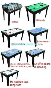 Pool Table Jack 12 In 1 Multi Purpose Game Table Multicolor Design Table Tennis