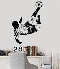 vinyl wall decal soccer player boy room sports stickers mural vinyl wall decal soccer player boy room sports stickers mural ig3887
