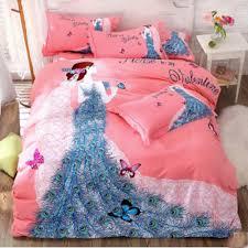 print luxury egyptian cotton bedding set thick sanding cotton