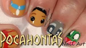 pocahontas nail art youtube