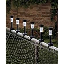 solar lights for chain link fence chain link fences amazon com