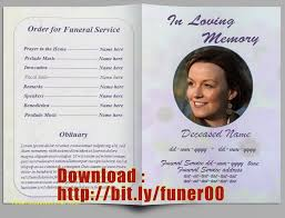 template for memorial service program unique free memorial service program template publisher free