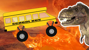monster truck jam videos for kids bus monster truck crazy dinosaur monster truck videos for