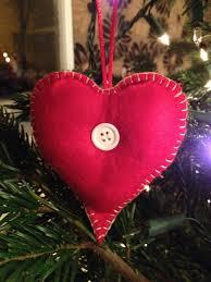 Felt Heart Christmas Ornaments Christmas Decorations Love Lucie