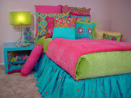 Lime Green And Purple Bedroom - purple pink and blue and green bedding lime green and pink