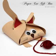 paper gift boxes turn a simple free printable gift box into these dog and cat