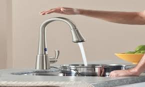touch kitchen faucets reviews one touch kitchen faucet reviews combined brushed nickel