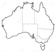 political map of australia with the several states stock photo