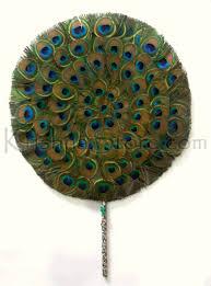 peacock fan peacock fan for deity worship