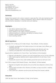 Corporate Resume Templates Professional Floral Assistant Templates To Showcase Your Talent