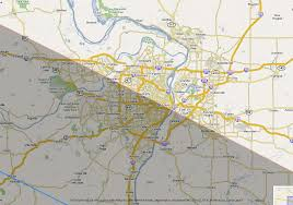 St Louis Metro Map by Total Solar Eclipse 2017 Maps