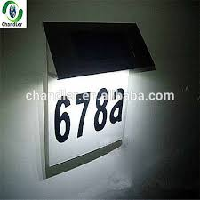 solar cing lights high quality waterproof solar powered house number light solar