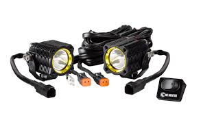 Led Lights For Motorcycle Kc Hilites Flex Single Led Lights For Spread Beam For Motorcycle