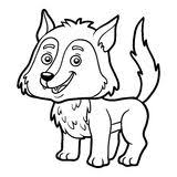 wolf coloring book adults vector stock vector image 70288578