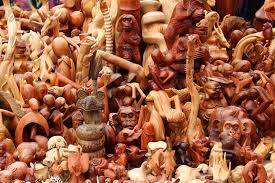 wood carvings photograph by ed lukas