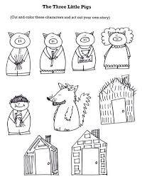 pigs retelling stick puppets preschool