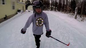 ez ice backyard rink the first skate 1 youtube