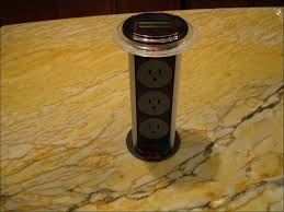 Kitchen Island Electrical Outlet Pop Up Counter Plugs Worker Make Install Drywall And Using