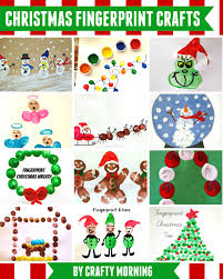 christmas u0026 winter fingerprint craft ideas for kids fingerprint
