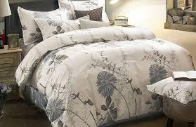 com duvet cover set 100 cotton bedding botanical fl flowers pattern printed with zipper closure 3pcs queen size home kitchen