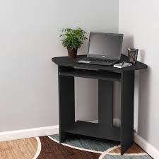 amazon com fineboard home office compact corner desk black