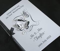 large handmade personalise butterflies congratulations wedding card