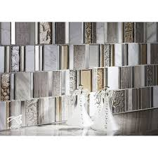 White Stone Glass Mosaic Tile Patterns Brushed Stainless Steel - Stone glass mosaic tile backsplash