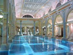 swimming pool indoor swimming pool with built in lounge chair and
