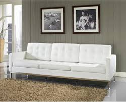 canap r tro florence style white leather loft sofa rtro canap florence style