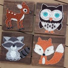 made to order 4 woodland animals string art string art