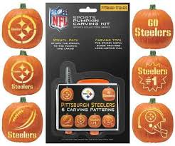 pumpkin carving kits pitsburgh steelers pumpkin carving kit