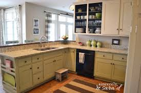simple yellow painted kitchen cabinets colors for with white decor