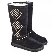 womens ugg boots kurt geiger ugg black avondale womens studded calf boot from daniel
