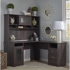 Computer Hutch Desks With Doors Cabot L Shaped Desk With Hutch Free Shipping Today Overstock