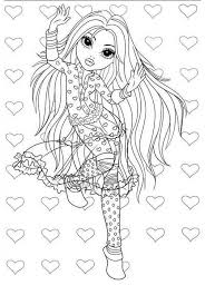 avery love moxie girlz coloring pages avery love