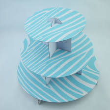 3 tier cupcake stand baby boy blue zebra 3 tier cupcake stand for baby shower on sale