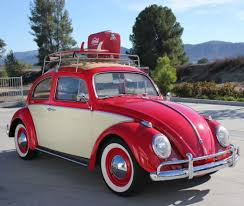 red volkswagen beetle volkswagen beetle ragtop 1962 red california classic beach cruiser