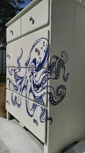 hand painted octopus dresser graphic was compliments of