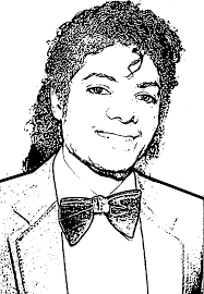 michael jackson coloring page free download