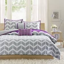 Purple And Gray Comforter Intelligent Design Reversible Peyton Purple Comforter Set Free